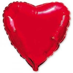 Фольгированное сердце красное 80 см