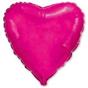 Фольгированное сердце малиновое 80 см