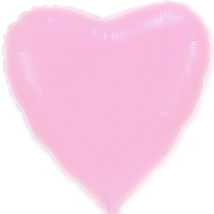 Фольгированное сердце розовое пастель 80 см