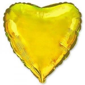 Фольгированное сердце золотое 80 см