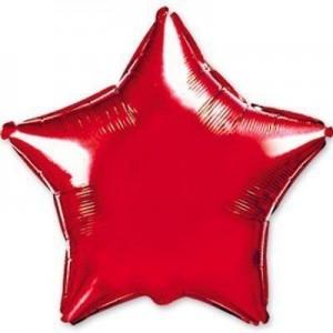 Фольгированная звезда красная 80 см
