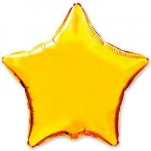 Фольгированная звезда золотая 80 см
