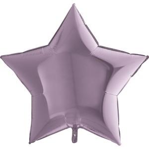 Фольгированная звезда лиловая 90 см