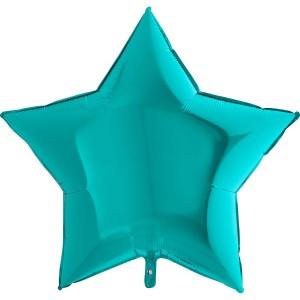 Фольгированная звезда тиффани металлик 90 см