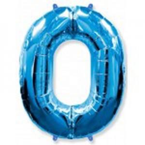 Синяя цифра 0