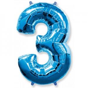 Синяя цифра 3