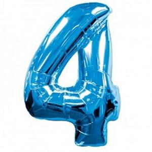 Синяя цифра 4