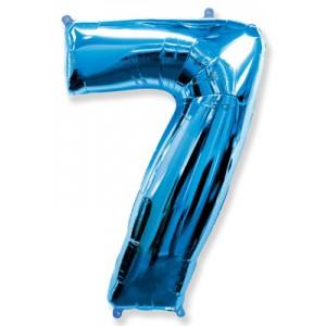 Синяя цифра 7