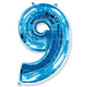 Синяя цифра 9