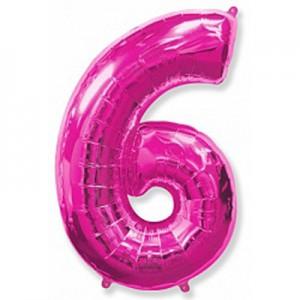 Малиновая цифра 6