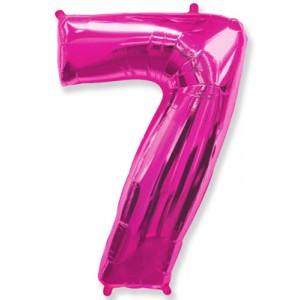 Малиновая цифра 7