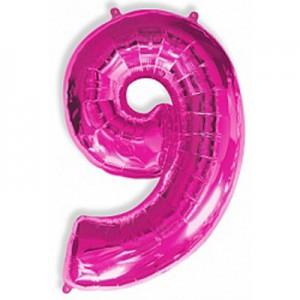 Малиновая цифра 9