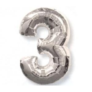 Серебрянная цифра 3