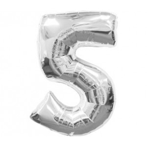 Серебрянная цифра 5
