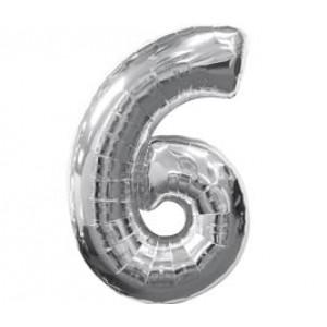 Серебрянная цифра 6
