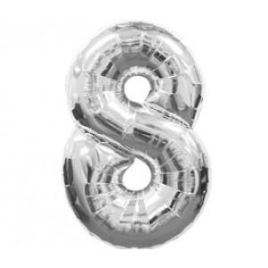 Серебрянная цифра 8