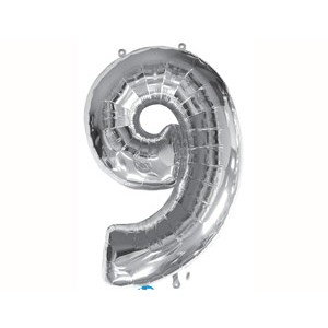 Серебрянная цифра 9