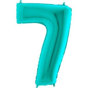 Цифра 7 металлик тиффани