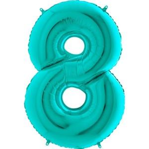 Цифра 8 металлик тиффани
