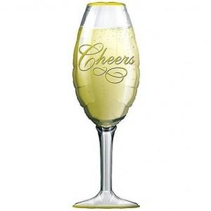Фольгированный шарик для Дня рождения Бокал шампанского