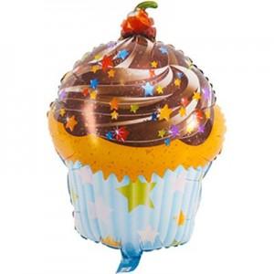 Фольгированный шарик для Дня рождения Кекс