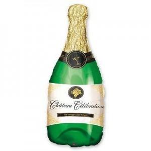 Фольгированный шарик для Дня рождения Бутылка шампанского