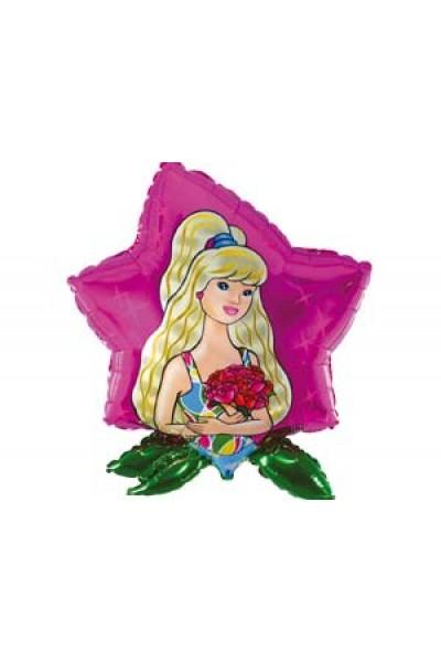 """Фольгированный шарик """"Девушка с цветами"""""""