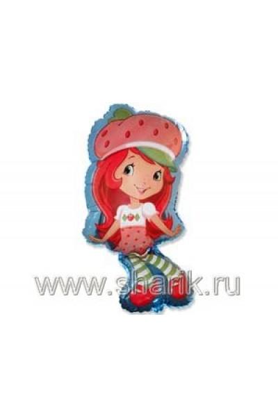 """Фольгированный шарик """"Девочка-клубничка"""""""