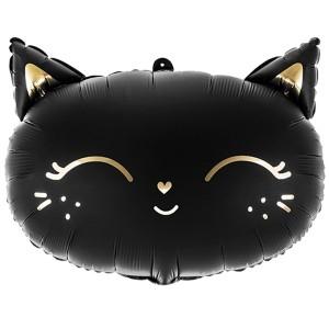 Кошечка черная фольгированный шарик