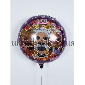 """Фольгированный шарик 18"""" (45 см)  Круг Лол куклы"""