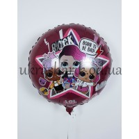 """Фольгированный шарик 18"""" (45 см)  Круг Лол рок-группа"""