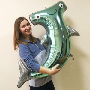 Акула-молот AN фольгированный шарик