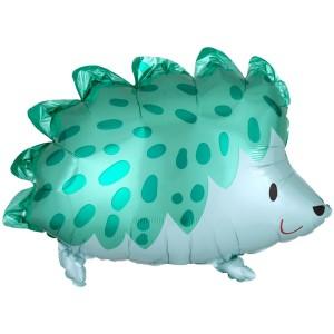 Ежик зеленый AN фольгированный шарик