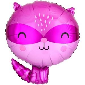 Енот розовый AN фольгированный шарик