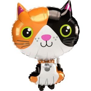Котенок трехцветный AN фольгированный шарик
