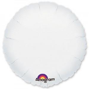 Фольгированный круг белый