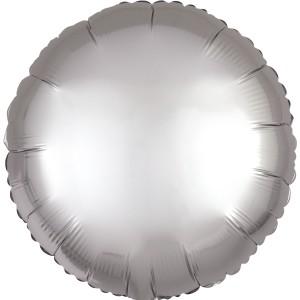 Фольгированный круг белое золото