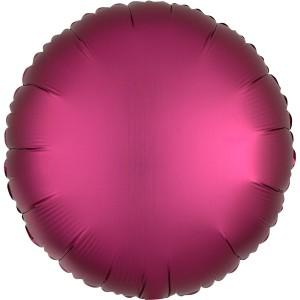 Фольгированный круг бургундия сатин