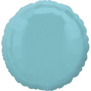 Фольгированный круг голубая жемчужина