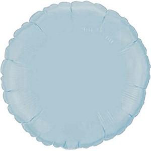 Фольгированный круг голубой пастель