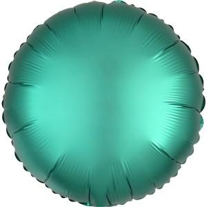 Фольгированный круг изумрудный сатин