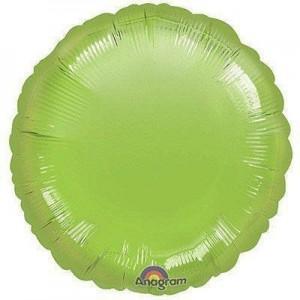 Фольгированный круг лимонно-зеленый