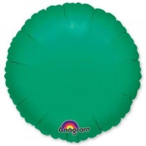 Фольгированный круг зеленый