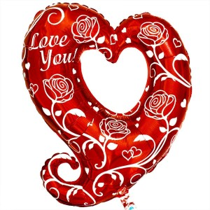 Фольгированный шар Сердце с розами