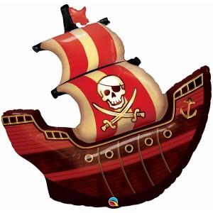 Фольгированный шар пиратский корабль Qualatex