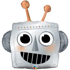 Робот голова фольгированный шарик