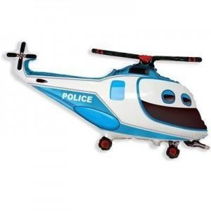 Фольгированный шар вертолет полиции