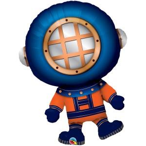 Водолаз фольгированный шарик