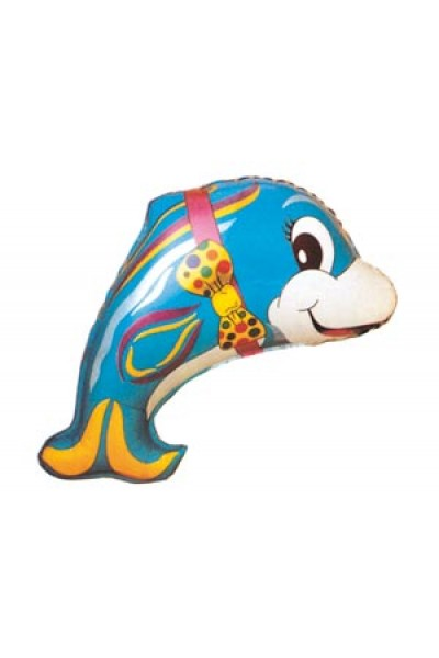 """Фольгированный шарик """"Дельфин с бантом"""""""