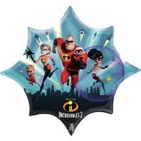 Фольгированный шарик Суперсемейка